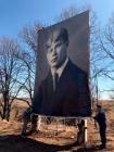В Михайловском районе установили самый большой фотопортрет Есенина