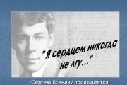 Международный конкурс «Я сердцем никогда не лгу…» на лучшее исполнение песен на стихи Сергея Есенина